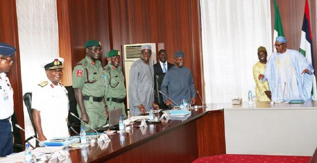 buhari & the service chiefs