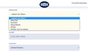 "alt=""image showing White House website contact form"""