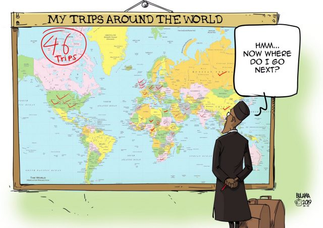 buhari's trips