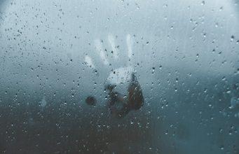 "alt=""image showing human palm print on wet window"""